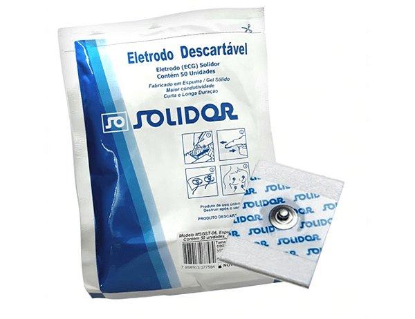 Eletrodo para Monitoração Cardíaca Adulto Pct c/ 50 unds - Solidor