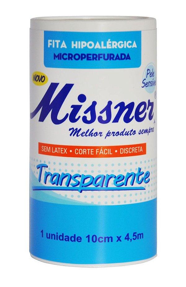 Fita Hipoalergica Transparente 10cm x 4,5m - Missner