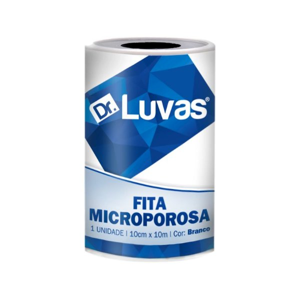 Fita Microporosa Branca 10 cm x 10m - Dr. Luvas