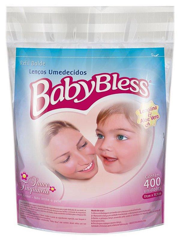 Lenço Umedecido Refil 400 Unds - Baby Bless