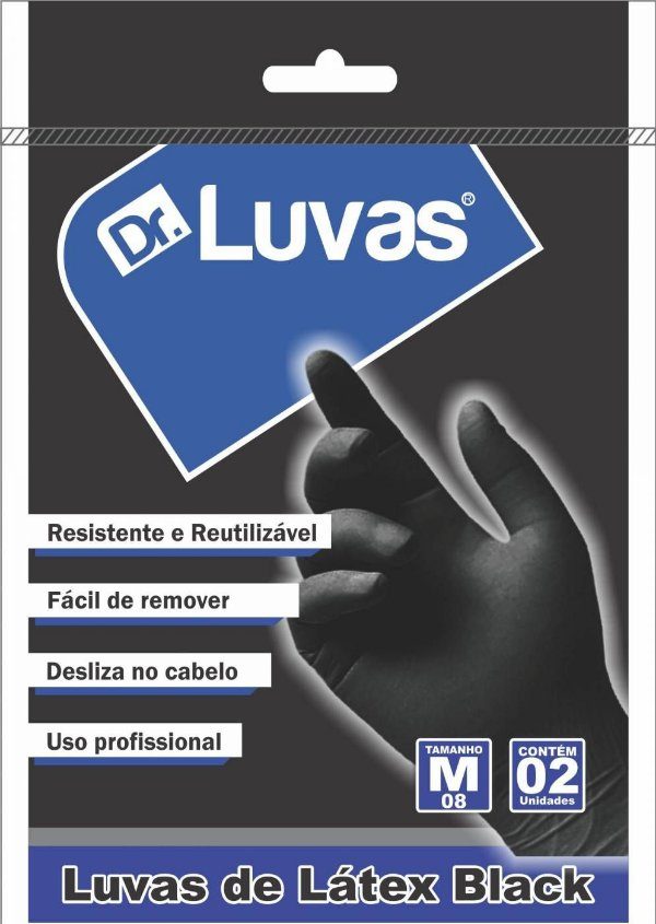 Luva de Látex Black Pct c/ 1 Par - Dr. Luvas