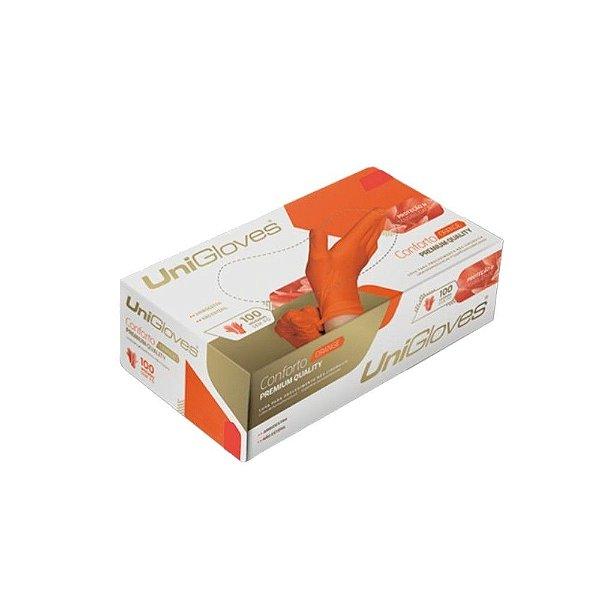Luva de Procedimento Latex Sem Po Orange - Unigloves