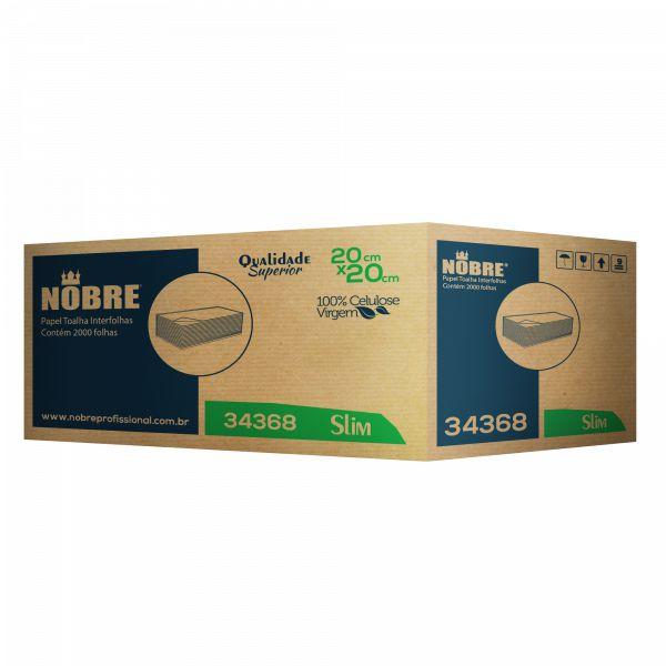 Papel Toalha Interfolhado 100% Celulose Caixa c/ 5.000 Unds - Nobre