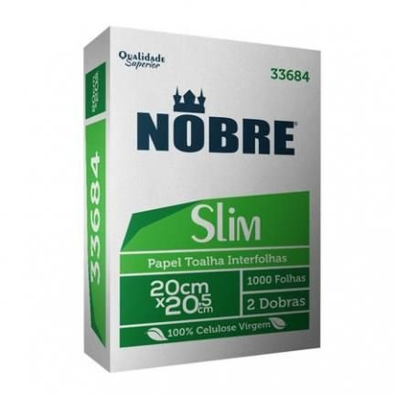 Papel Toalha Interfolhado 100% Celulose Pacote c/ 1.000 Unds - Nobre