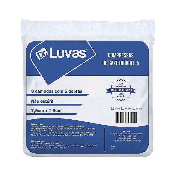 Compressa Gaze Não Estéril 13 Fios - Dr. Luvas