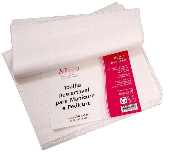 Toalha Descartavel para Manicure e Pedicure 30x45 Pct 50und - NT Flex