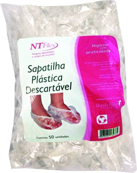 Sapatilha Descartavel Plastica c/ 50 unds - NT Flex