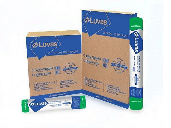 Lençol de Papel 70cmx50m Branco Luxo Cx c/ 10 Rls - Dr. Luvas