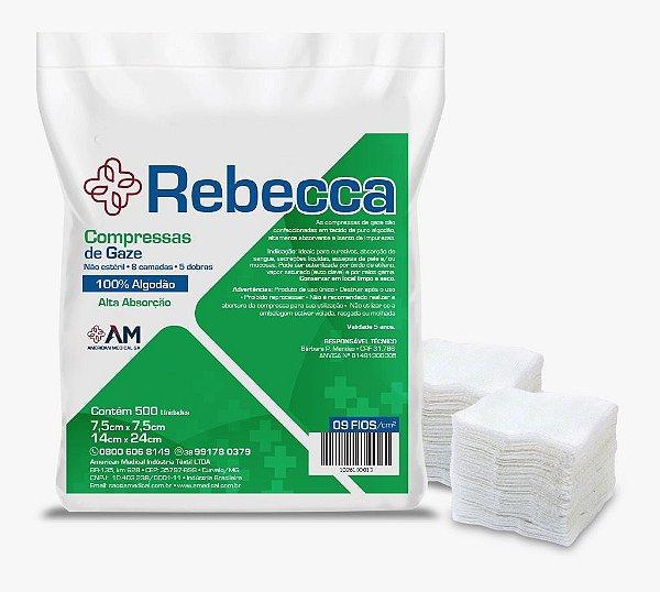 Compressa Gaze Não Estéril 9 Fios Pct C/500 Rebecca - America