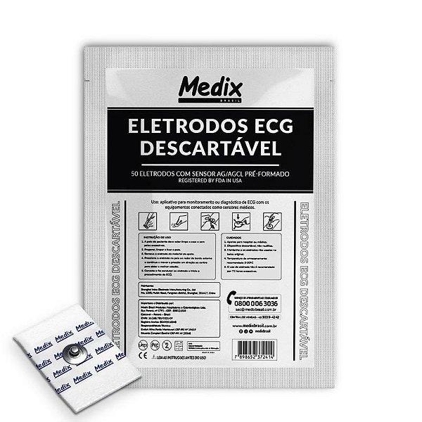 Eletrodo para Monitoração Cardíaca Adulto Pct c/ 50 Unidades - Medix