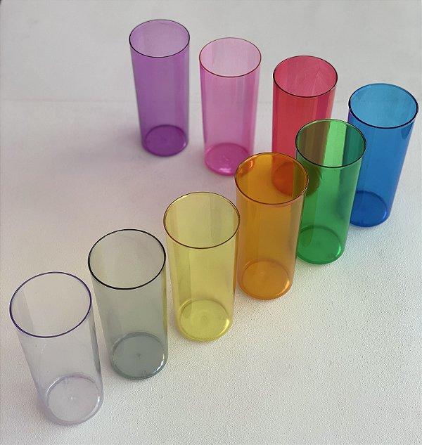 Copos Long Drink 350ml - Cores: Translucidas