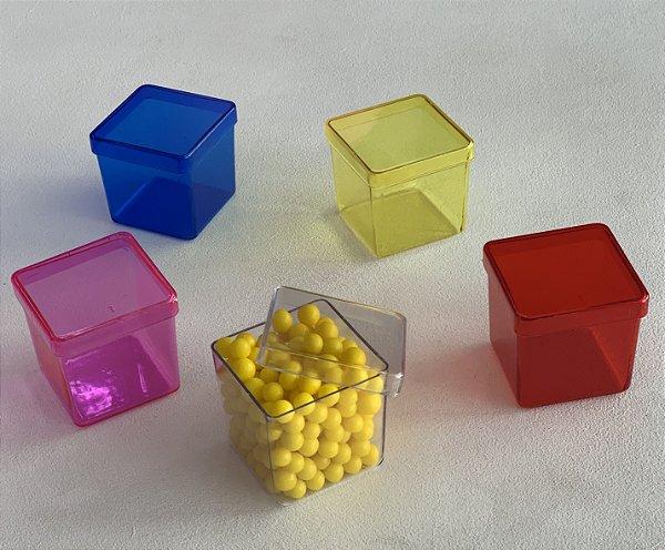 Caixinha De Acrilico 5x5 - Pacote com 10 Cores Translúcidas