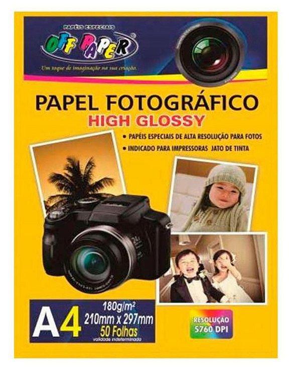 Papel Fotografico Pacote com 50 Folhas