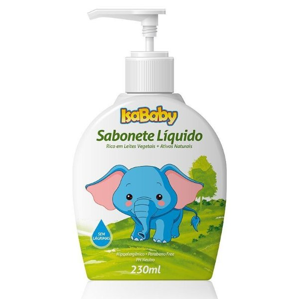 Sabonete Líquido IsaBaby Zoo da Cabeça aos Pés 230ml
