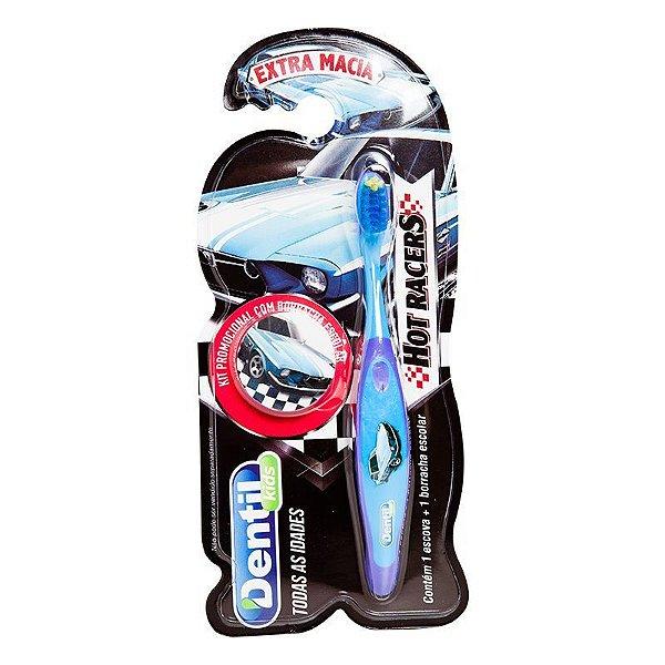Escova Dental Dentil Kids Carros com Borracha