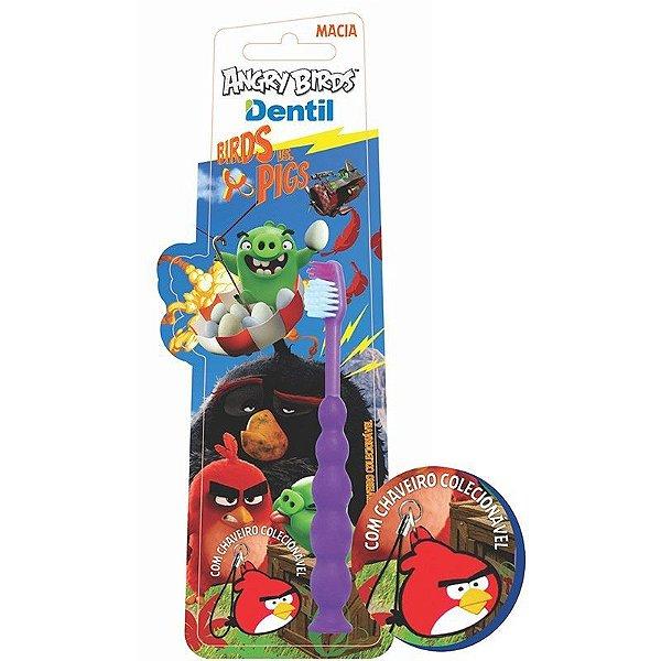 Escova Dental Dentil Angry Birds com Chaveiro