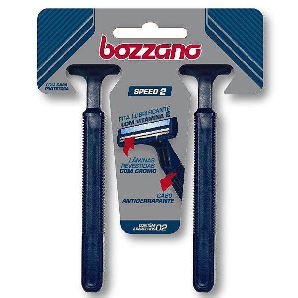 Aparelho de Barbear Bozzano Speed 2 Lâminas com 2 unidades