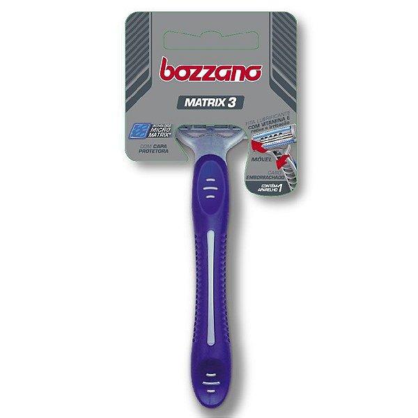 Aparelho de Barbear Bozzano Matrix 3 Lâminas ( Cabo Ergonômico )