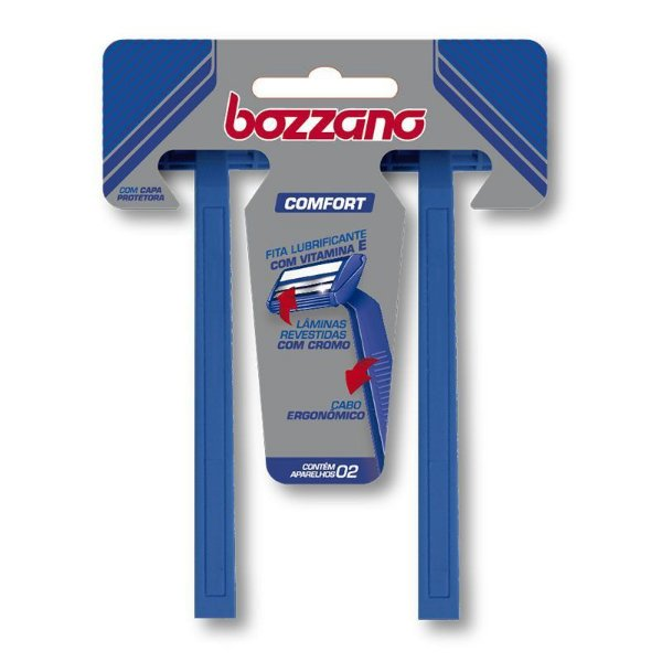 Aparelho de Barbear Bozzano Confort 2 Lâminas com 2 unidades