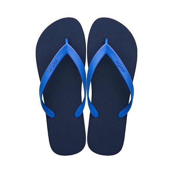 Sandália Starlux Clássica Azul Escuro/Azul Claro