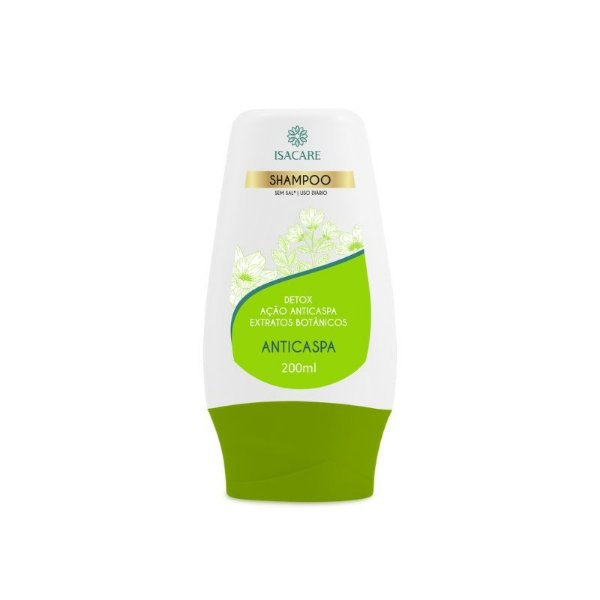 Shampoo Isacare Anticaspa Detox Verde 200ml