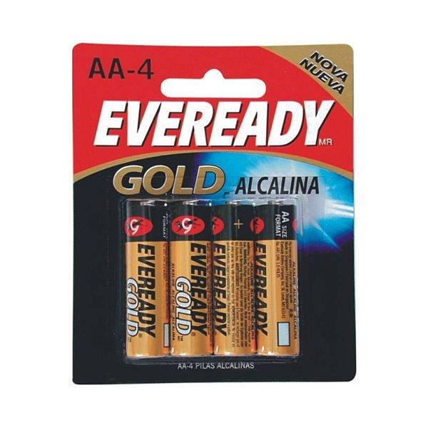 Pilha Eveready Alcalina Gold Pequena AA4 1x4 ( Voltagem 1,5V )