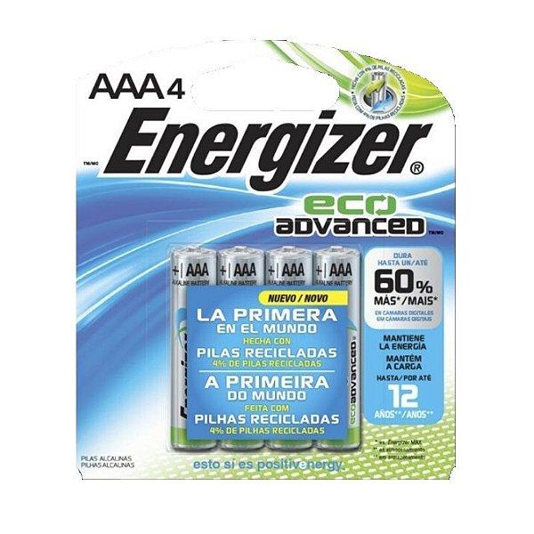 Pilha Energizer Eco Advanced Palito AAA4 1x4