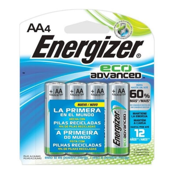Pilha Energizer Eco Advanced Pequena AA4 1x4