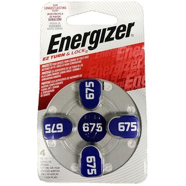 Pilha Energizer Audiológica 675 1x4
