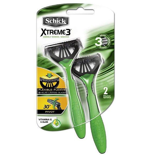 Aparelho Schick Xtreme 3 Pele Sensível (Verde) 1x2