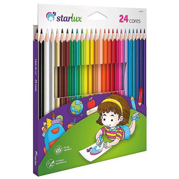 Lápis de Cor Starlux 24 Cores