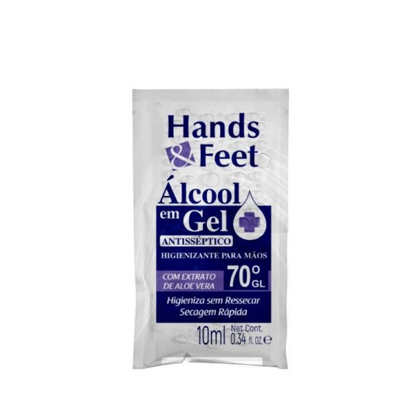 Alcool Em Gel Sache Hands And Feet 10ml