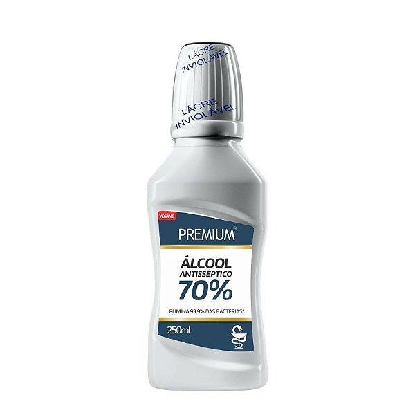 Álcool Antisseptico 70% Premium Vegano 250ml