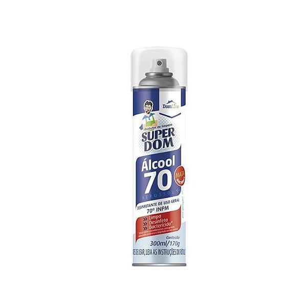 Álcool Aerossol Super Dom 70% 300ml