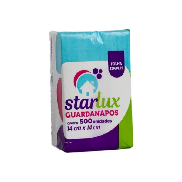 GUARDANAPO STARLUX 14X14CM 500 FOLHAS