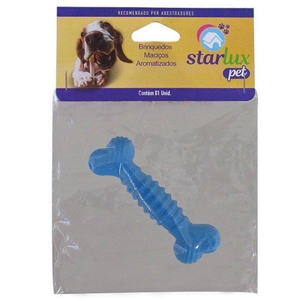 Osso Brinquedo Superbone Borracha Maciço Aromatizado N1 Starlux Pet