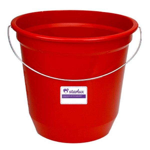 Balde Vermelho 7,5LTS Starlux (Para Maior Segurança Durante o Uso)
