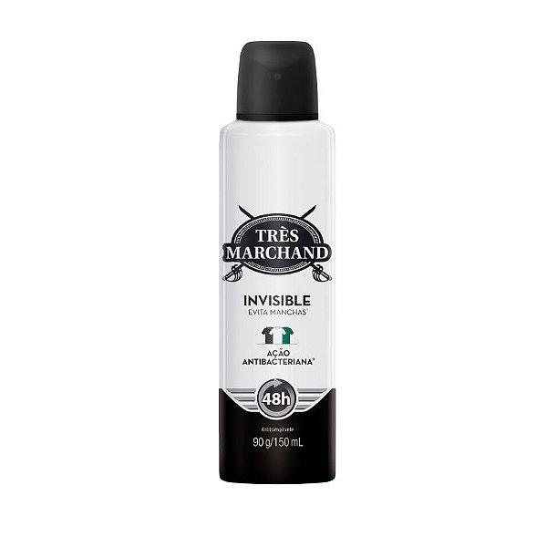 Desodorante Aerosol Tres Marchand Invisible 150ML(Contra os Odores)