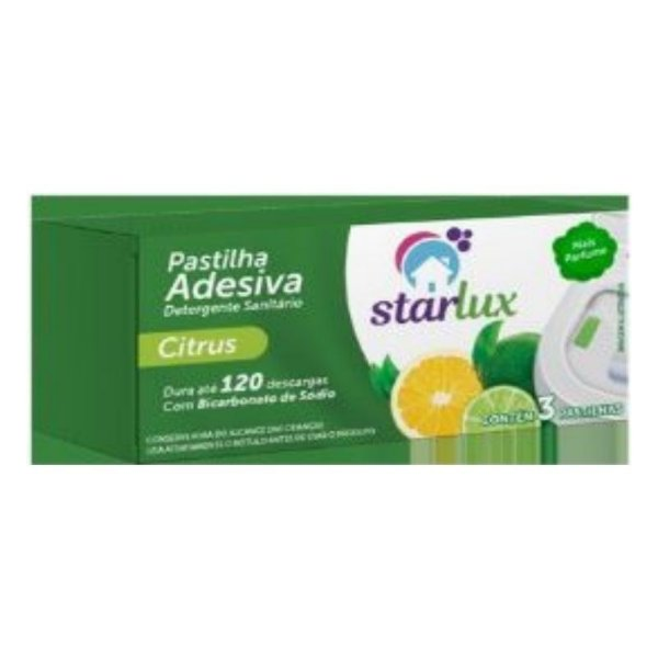 Pastilha Adesiva Citrus Com Bicabornato de Sódio  -  Linha Starlux