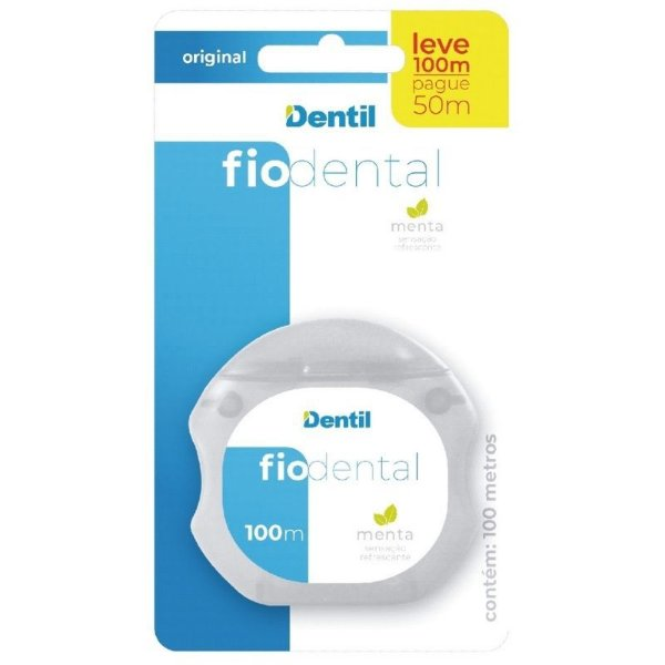 Fio Dental Original (Fio Dental com 100mts, Encerado, Sabor Menta)