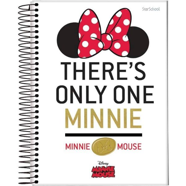 Caderno Universitário Disney Minnie 15 M  240 Folhas – StarSchool