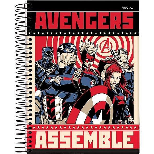 Caderno Universitário Disney Avengers 15M 240 Folhas – StarSchool