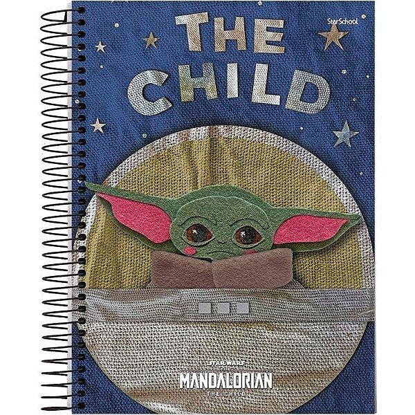 Caderno Universitário Disney Mandalorian 1M 80 Folhas – StarSchool