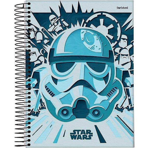 Caderno Universitário Disney Star Wars 1 M 80 Folhas – StarSchool
