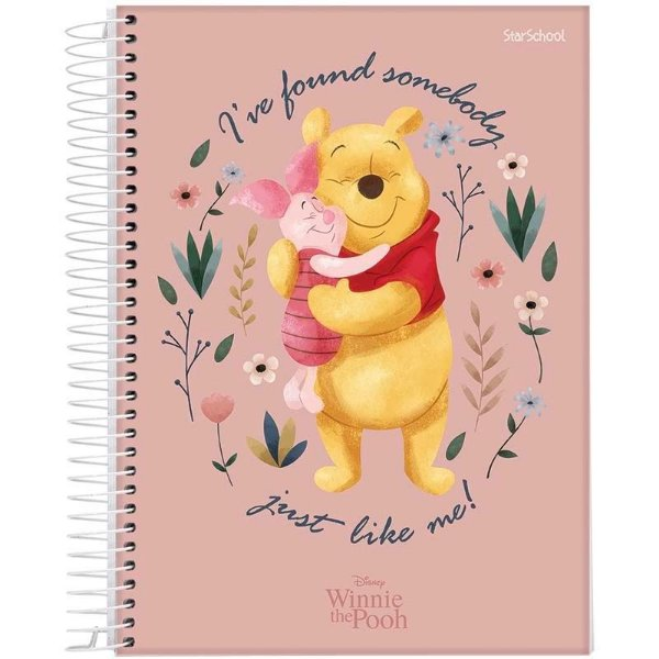 Caderno Divertido Disney Pooh Espiral CD 80 Folhas  –  StarSchool