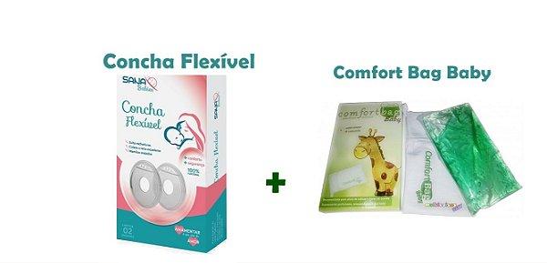 Kit Concha Flexível para Amamentação + Bolsa Térmica Comfort Bag Baby