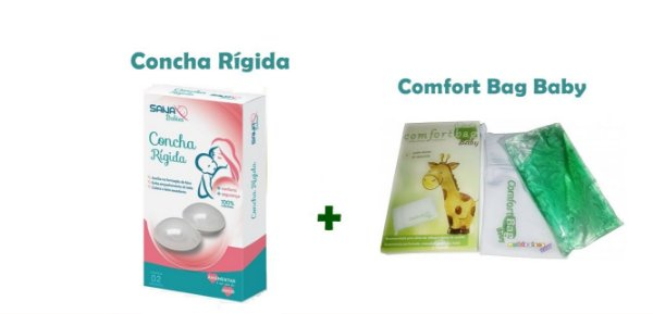 Kit Concha Rígida para amamentação + Bolsa Térmica Comfort Bag Babies