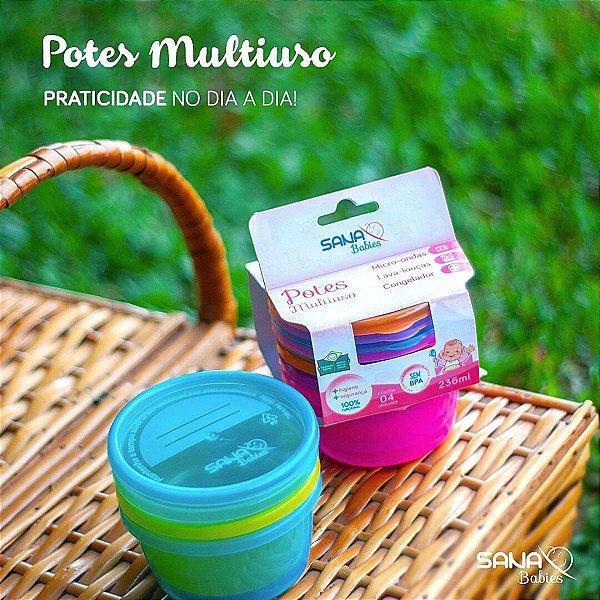 Potes Multiuso Infantil Sana Babies Meninos 236 ml