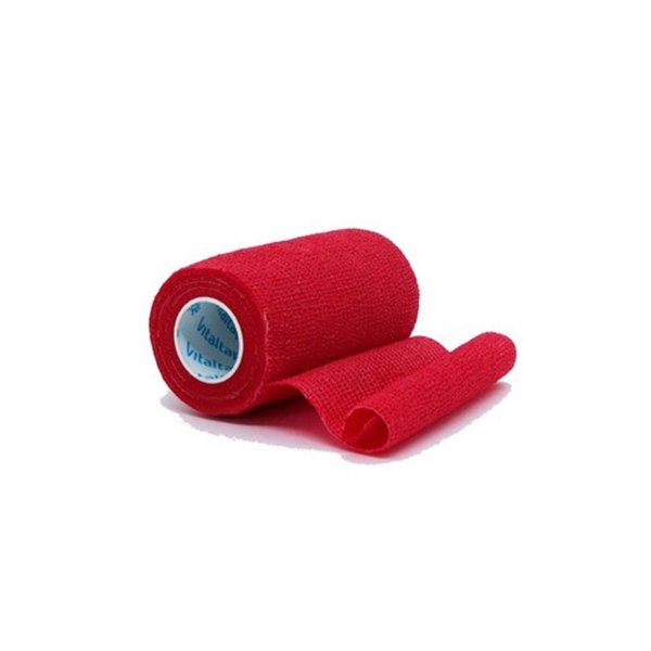 Bandagem Elástica Vitaltape Auto Aderente Coban Vermelha