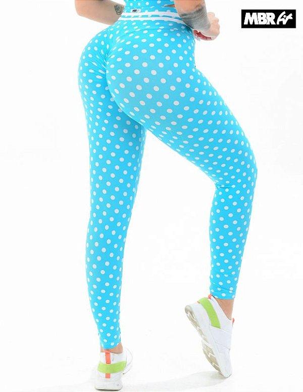 Legging poa azul